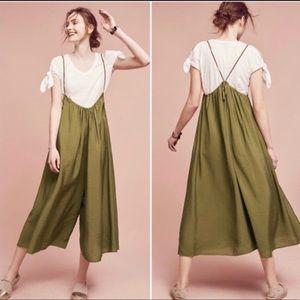 AKEMI + KIN Olive Green Suspender Jumpsuit Size M